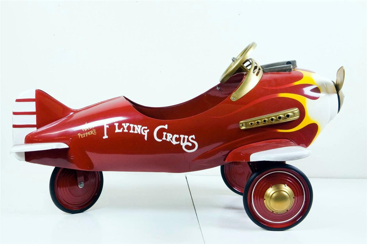 Antique Airplane Tricycle : Restored waldo peppers flying circus pedal